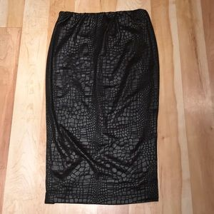ASOS black Croc print pencil skirt